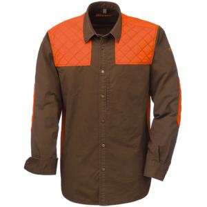 Camasa Blaser Twill Modern maro/portocaliu