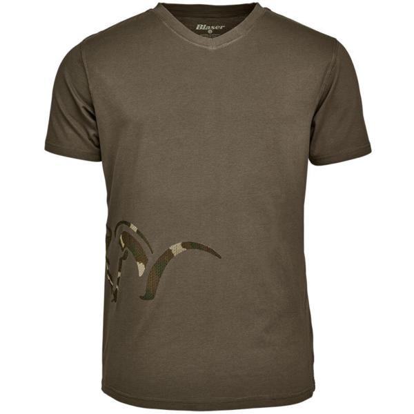 Tricou polo Blaser Logo V olive