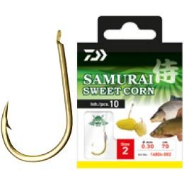 Carlige Legate Daiwa Samurai Sweet Corn, 10buc