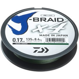Fir Textil Daiwa J-Braid X4, Dark Green, 270m