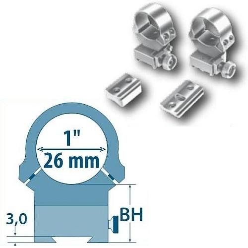 Prindere fixa Argo D=26mm/H=17,5mm