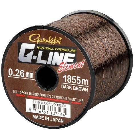 Fir monofilament Gamakatsu G-Line Element maro inchis 2270M