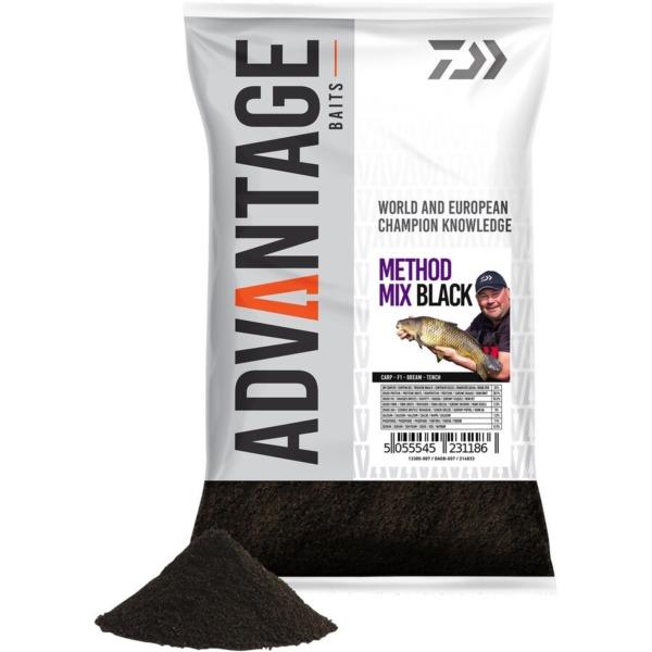 Groundbait Daiwa Advantage, 1kg/punga, Method Mix Black