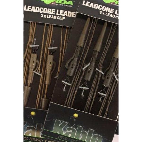 Montura Leadcore Plumb Pierdut Korda Hybrid Lead Clip, 3buc/blister