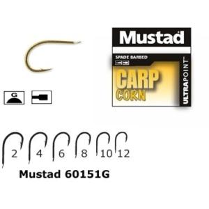 Carlig Mustad Carp Corn, Cioc de Papagal, Auriu, 10buc/plic