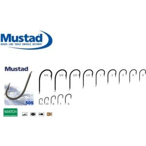 Carlig Mustad M505 Revers, Negru Mat, 10buc/plic
