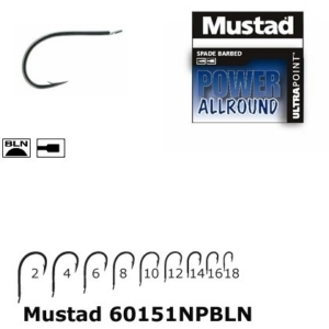 Carlig Mustad Power Allround, Cioc de Papagal, Nichel, 10buc/plic