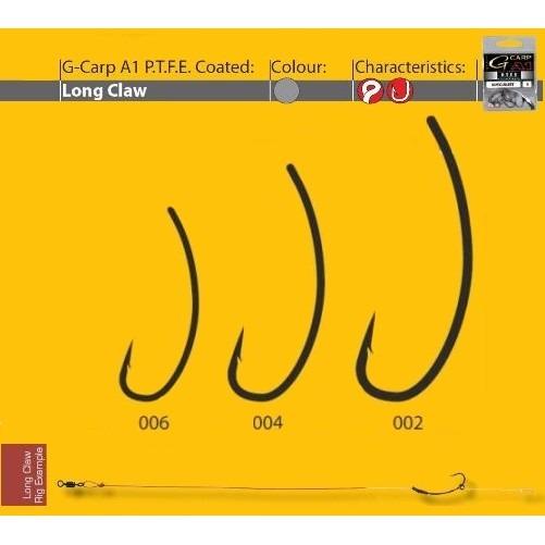 Carlige Gamakatsu A1 G-Carp Long Claw PTFE, 10buc/plic