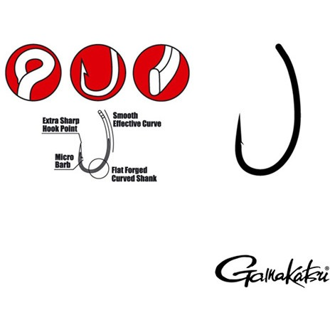 Carlige Gamakatsu G-carp Hump Back, 10buc/plic