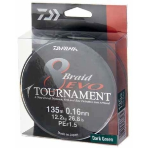 Fir Textil Daiwa Tournament 8 Braid EVO Dark Green, 300m