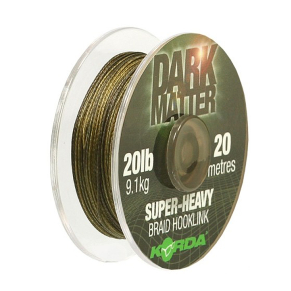 Fir Textil Korda Dark Matter Super-Heavy Braid Hooklink, 20m