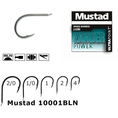 Carlig Forjat Mustad 10001BLN Nichel Revers, 10buc/plic
