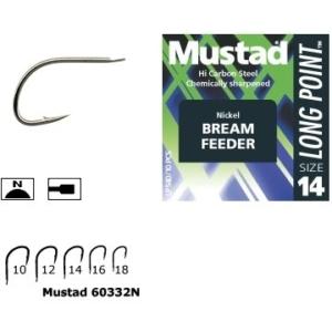 Carlig Mustad Feeder MU11, Nichel, 10buc/plic