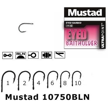 Carlige cu Ochet Mustad BLN Forjat, 2 Spini, 10buc/plic