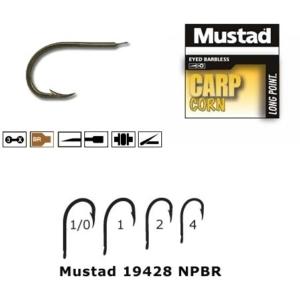 Carlige Mustad M19428 NPBR Bronz, Cioc de Papagal, Revers, 10buc/plic