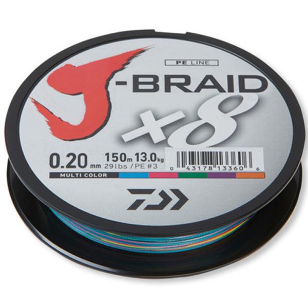 Fir Daiwa J-Braid X8, Multicolor