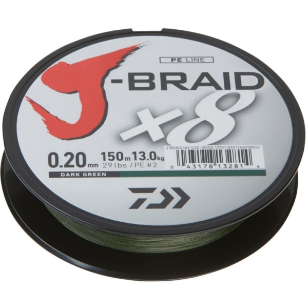 Fir Daiwa J-Braid X8, Verde Inchis