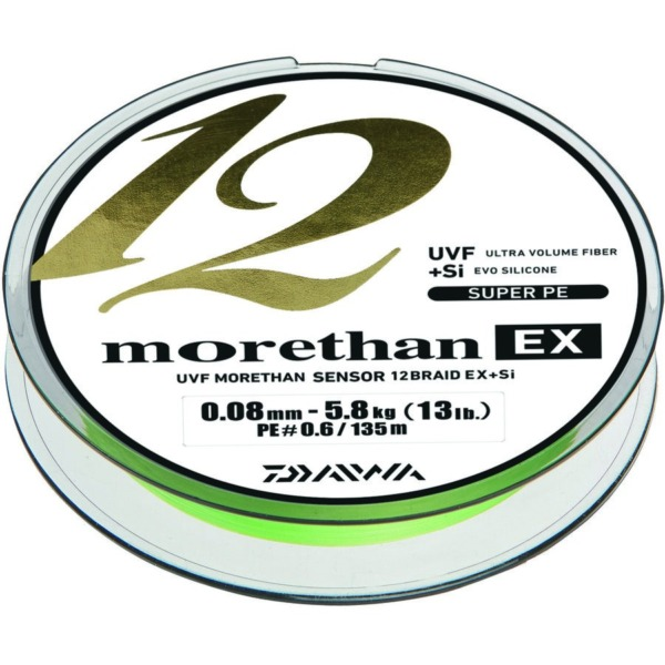 Fir Daiwa Morethan 12 Braid EX+SI, Lime-Green
