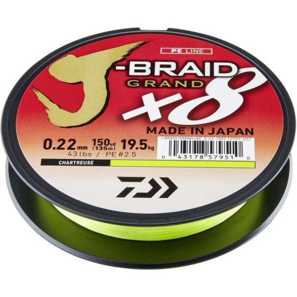 Fir Daiwa J-Braid Grand X8, Chartreuse