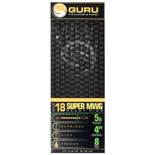 "Montura Guru SMWG Standard Hair Rig 4"", 8buc/plic"