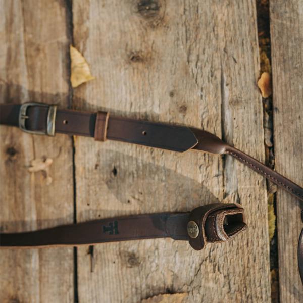 Curea arma md. 6, cu prindere pe teava, piele