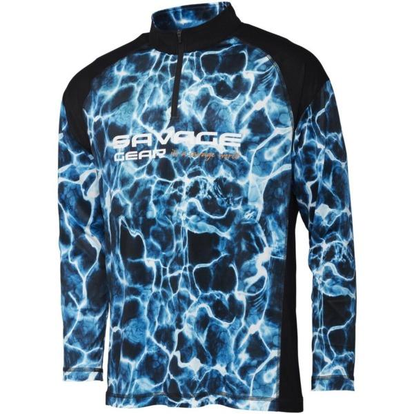 Bluza Savage Gear Marine UV, Sea Blue